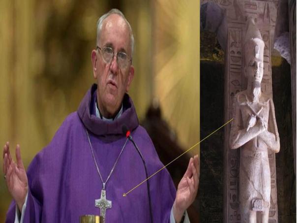La cruz de Osiris del nuevo papa Cruz1