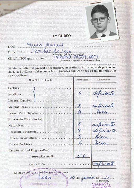 NOTAS DE RAJOY EN SECUNDARIA