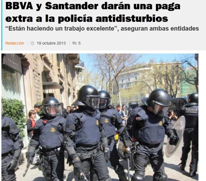 bbv y santander policia