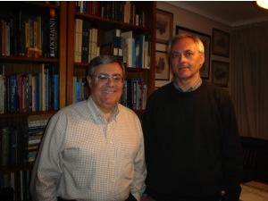Heriberto Janosch con Ballester Olmos, otro conocido debunker