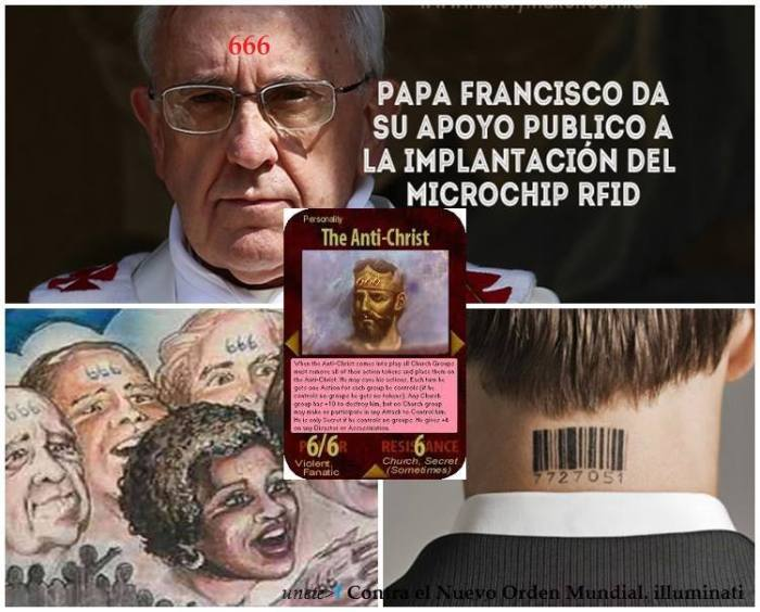 papa francisco chip RFID
