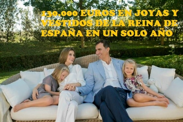 130.000 EUROS EN JOYAS Y VESTIDOS DE LA REINA DE ESPAÑA EN UN SOLO AÑO